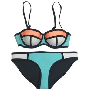 TRIANGL Swimwear Neoprene Bikini Color Block